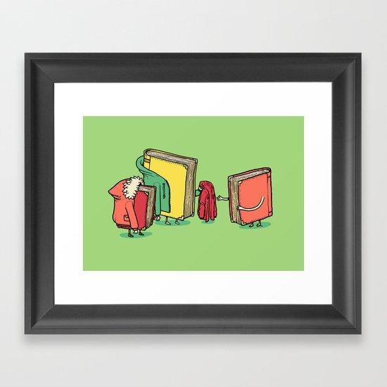 Book Jackets Framed Art Print