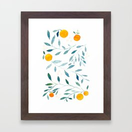 Orange Tree Framed Art Print