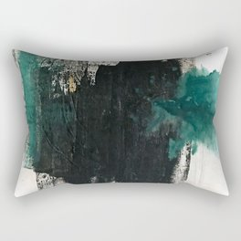 Empire: a minimal, abstract piece in teal and midnight blue by Alyssa Hamilton Art Rectangular Pillow