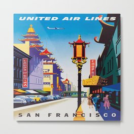 Vintage poster - San Francisco Metal Print