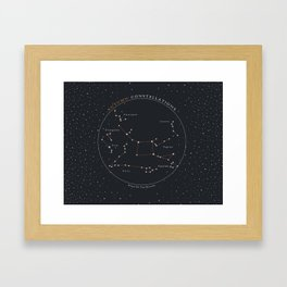 Autumn Constellations Star Chart Framed Art Print