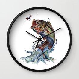 Bass Fish Wall Clock