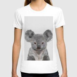Koala Print, Cute Baby Koala Photo, Australian Animals Photo, Nursery Animals Wall Art T-shirt