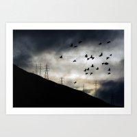 Flying high in Arrochar Art Print