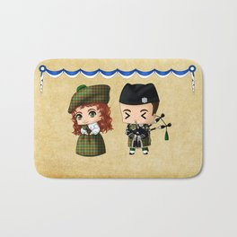 Scottish Chibis Bath Mat