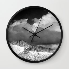Clouds - White Pass, Kings River Canyon Wall Clock