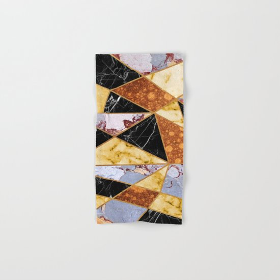 Abstract #458 Molten Metal & Marble Hand & Bath Towel