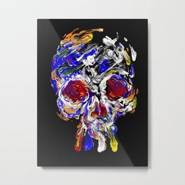 Skully Mix Metal Print