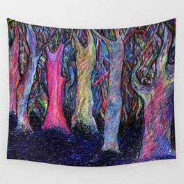 Shining forest Wall Tapestry