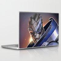 garrus Laptop & iPad Skins featuring Garrus Vakarian Portrait - Mass Effect by MarcoMellark