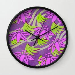 Spring floral design Wall Clock
