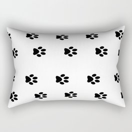 Cat Paws - Cat Lovers Unite! Black and White Cat Art Rectangular Pillow