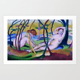 Franz Marc, Nudes under Trees, 1911 Art Print