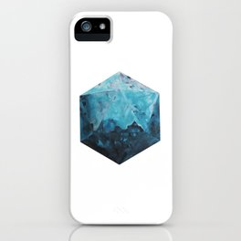 One Blue Icosahedron iPhone Case