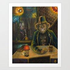 Lester Dines At The Mai Kai Art Print