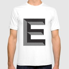 E for.... SMALL White Mens Fitted Tee