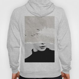 minimal collage /silence Hoody