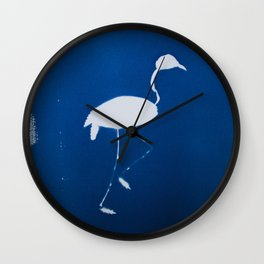 Cyano-flamingo Wall Clock