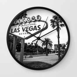 Welcome to Vegas Wall Clock