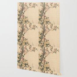 Hokusai, flowers of a cherry-tree- manga, japan,hokusai,japanese,北斎,ミュージシャン Wallpaper