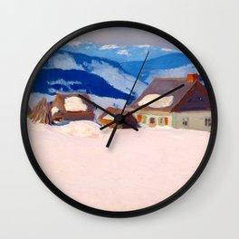 Clarence Gagnon - Laurentian Homestead - Ferme du rang St. Antoine, Baie St. Paul Wall Clock