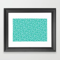 Control Your Game - Turquoise Framed Art Print