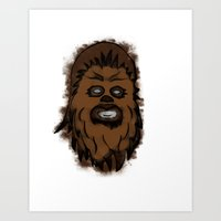 chewbacca Art Prints featuring Chewbacca by MuDesignbyMugeBaris