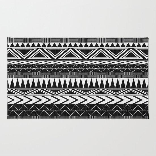 Tribal Monochrome. Rug