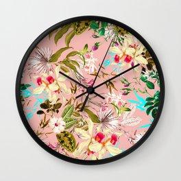 Gardenia #pattern #botanical Wall Clock