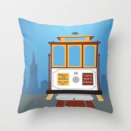 San Francisco, California - Skyline Illustration by Loose Petals Throw Pillow