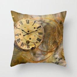 Die Zeit verfliegt ! Throw Pillow