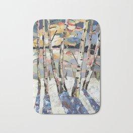 Birches in witnter Bath Mat