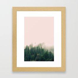 Pink Fog Framed Art Print