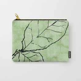 Two Leaves on Green Carry-All Pouch