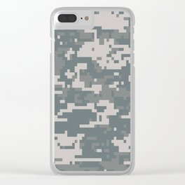 Digital Camouflage Clear iPhone Case