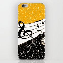 Gold music theme iPhone Skin