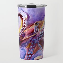 Watercolor Octopus Travel Mug