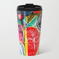 Black World Street Art Graffiti Urban Pop Metal Travel Mug