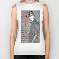 ballon Biker Tanks featuring The Man With The Ballon by Karin Ohlsson