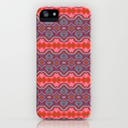 Summer splash - Coral and Blue iPhone Case