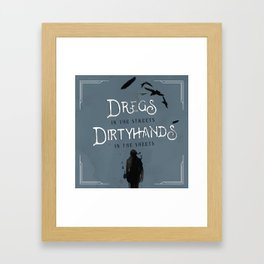 DREGS IN THE STREETS Framed Art Print