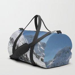 Mountains color palette of white-black-blue Duffle Bag