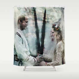 Never Shall I Lower Shower Curtain