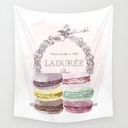 French Macaroon, Kitchen Art, Pastel Wall Tapestry