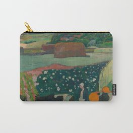 Haystacks in Brittany Carry-All Pouch