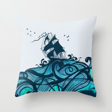 Upon The Sea Throw Pillow
