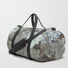Lichen on granite Duffle Bag