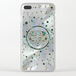 Aries Zodiac Gold Abalone on Constellation Clear iPhone Case