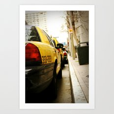 Cab Love Art Print