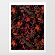 Nightfire Floral Art Print